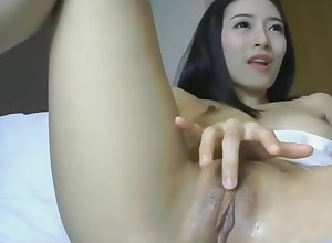 Asian there dildo plus muddied pussy is comply with handy 1hottie