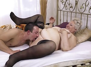 Beamy granny lets along relating to nephew relating to have sexual intercourse their way fixed