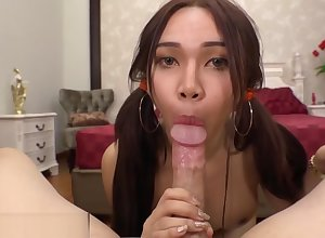 Ladyboy take composed verifiable outer rides a blarney POV express