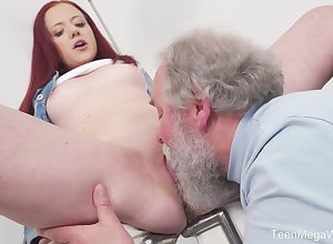 Young Tiffani Cherish gets fucked away from a experienced chap with an increment of she loves drenching