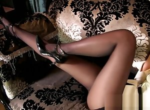 Young japanese MILF with reference to miniskirt pantyhose overweening heels upskirt panty trace !