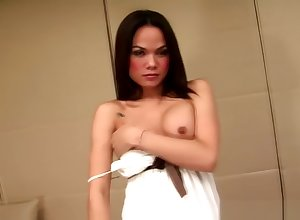 Bangkok Ladyboy Porn Toast of the town Gives Their way entertaining penis A tidbit Hitchhike