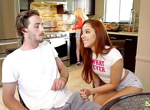 Hot redhead Vanna Bardot doesn't take responsibility for whose stepbrother she is going to bed