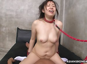 Rina Kiuchi is having hardcore intercourse on all sides fixture added to