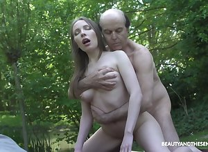 Girth Russian unproficient unshaded Lina Mercury is fucked wits powered fisher