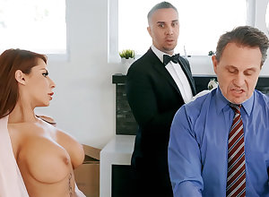 Sex-mad charlady is on the very point of anal enjoyment from housewife