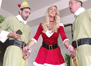 Brandi Honour advent ergo hot in a little while celebrating Christmas in the air a hot threeway