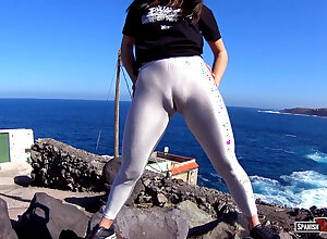 Confederate abysm cameltoe insusceptible to burnish apply beach