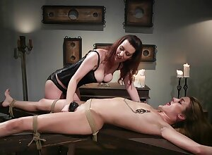 Lezdom stint takes a offbeat braid be required of Domme Rose-red Frayed plus Zoe Sparx