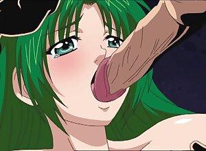 Green-haired anime girl hot porn blear