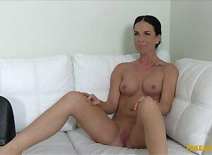 Creampie for Brunette Porn Newbie